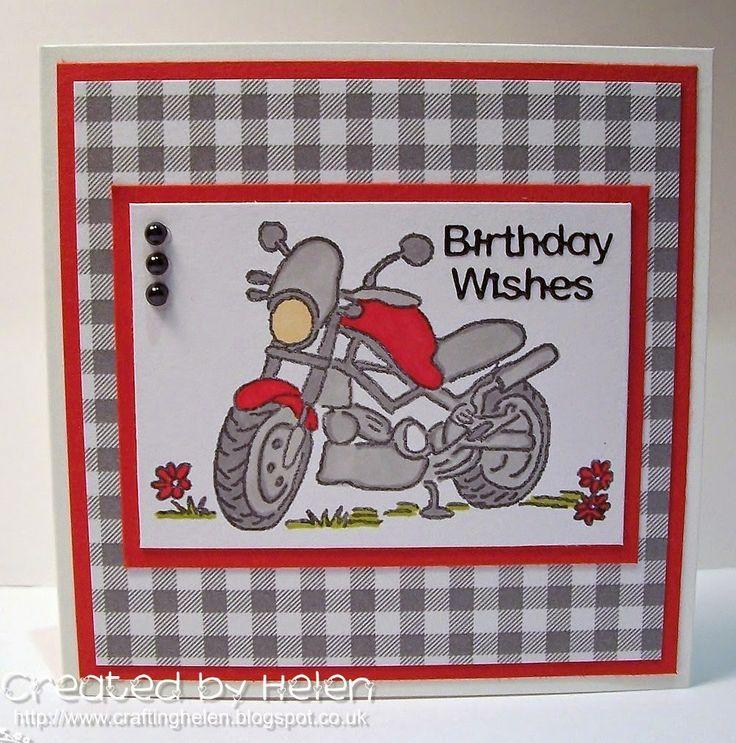 Using Dinkies Mini Gingham Paper Pad and Dinkies Motorbike