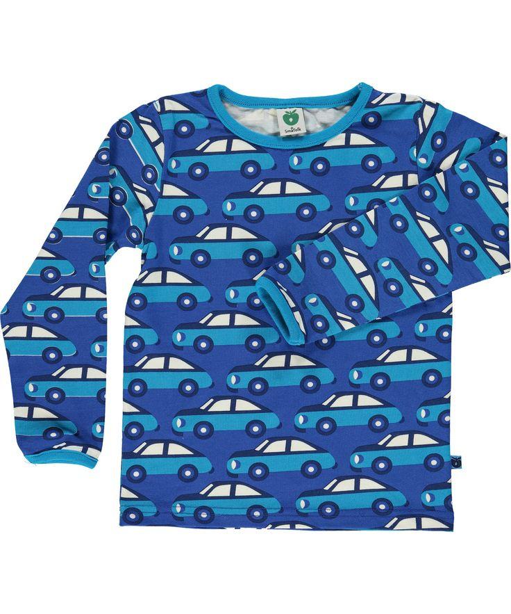 Småfolk coole blauwe t-shirt met blauwe auto's. smafolk.nl.emilea.be