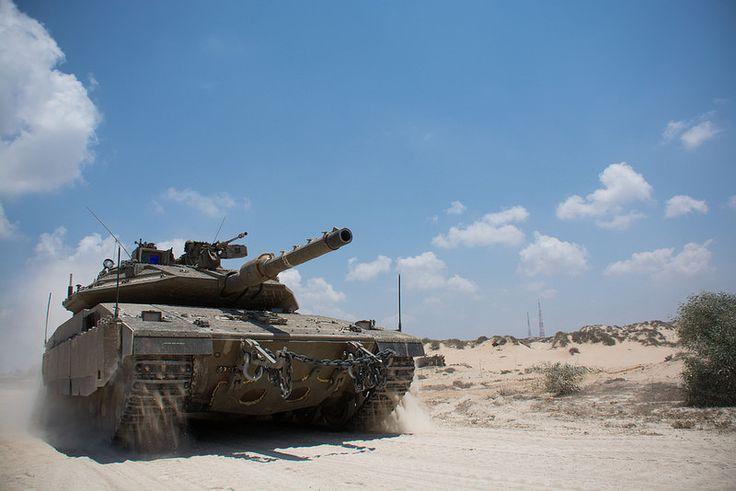 Armored Corps Operate Near the Gaza Border