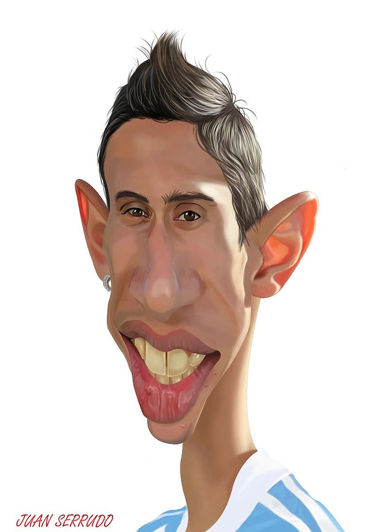 Caricatura de Ángel Di María.