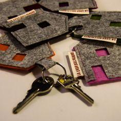 portachiavi in feltro disponibile in diversi colori