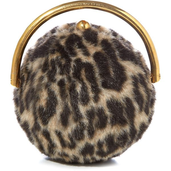 Stella McCartney Ball Leopard faux-fur classic clutch ($1,725) ❤ liked on Polyvore featuring bags, handbags, clutches, brown tote, handbags totes, leopard tote bag, tote handbags and leopard clutches