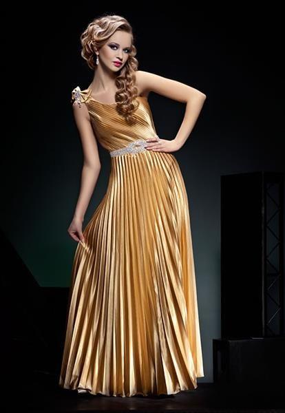 Золотое платье на выпускной