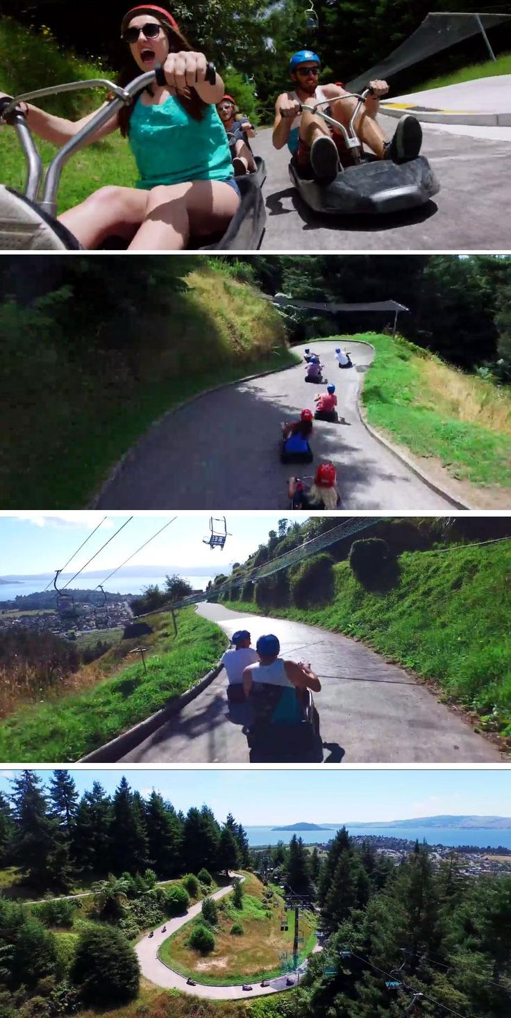 New Zealand's Skyline Luge is the closest you can get to real-life Mario Kart.