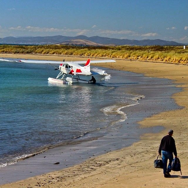 What a place to fly out from! #seaplane #brunyisland #tasmania #discovertasmania Image Credit: Aude Mayans