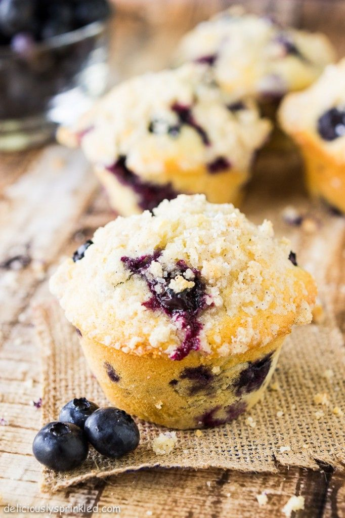 Homemade Blueberry Muffins - Deliciously Sprinkled