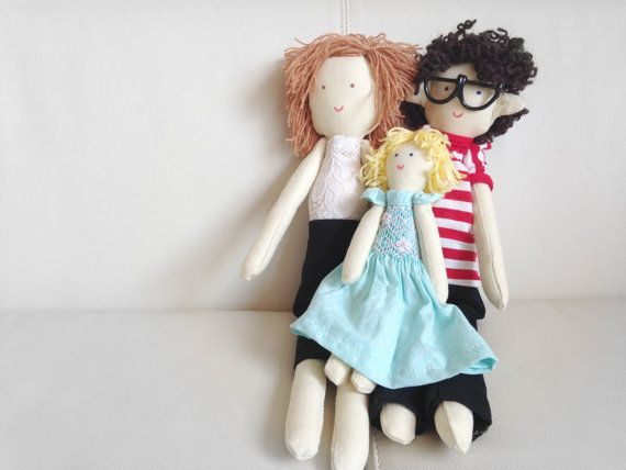 Handmade custom doll Mother father children by apacukababa on Etsy