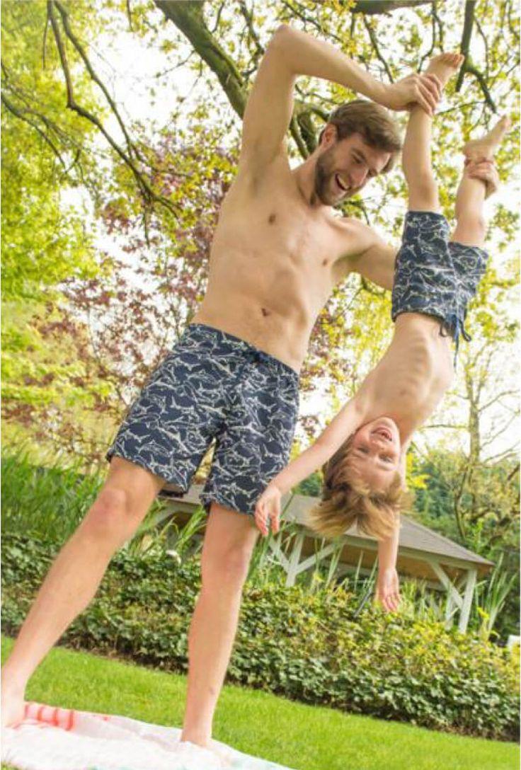 Freebook Shorts - Badeshorts ❤ Gr. XXS - XXL ❤ von La Maison Victor ❤ PDF zum Ausdrucken ❤ Kostenloses Schnittmuster ✂ Nähtalente.de besuchen - Free sewing pattern for shorts in size XXS - XXL for woman, man and children.