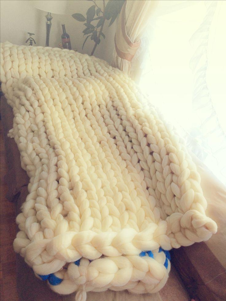 🐑Manta xxl 💯% lana de oveja Patagónica🐑🐑