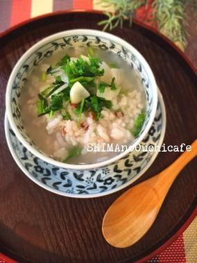 赤米いりの紅白おめでた色 七草粥|レシピブログ