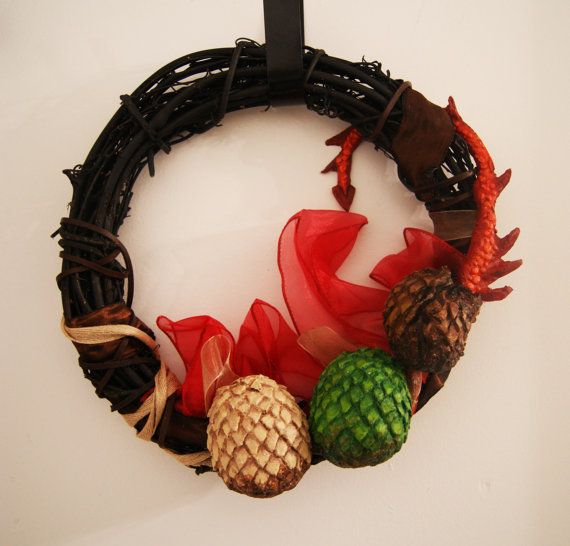 Game of Thrones Targaryen Wreath by AtomicWonderland on Etsy, $45.00  Game of thrones party decoration!