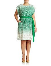 Plus Ombre Print Kimono Dress. St. Patrick's Day, Christmas, Spring/Easter, AKA, LINKS Inc. MSU, YPD, UNCC, Dartmouth