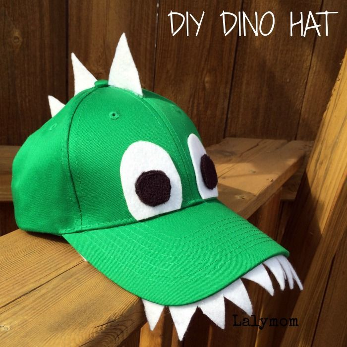 DIY Craft: Dinosaur Crafts for Preschoolers - This DIY Dinosaur Hat for Kids gives kids cutting practice as well as a SUPER COOL Handmade Hat! from Lalymom