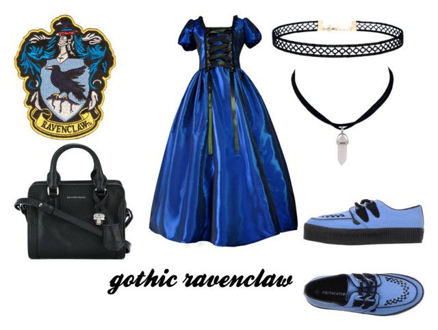 """""""gothic ravenclaw"""" by marauderslife on Polyvore featuring Underground, LULUS and Alexander McQueen"""