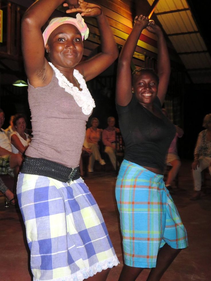 Maroon girls perform an awasa dance at Anaula Nature Resort on the upper Suriname River.