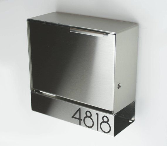 Modern Mailbox Ely S Stainless Steel Design Wall Mounted Mailbox Contemporary Mid Century Lock Sb1111s In 2020 Modern Mailbox Mounted Mailbox Wall Mount Mailbox