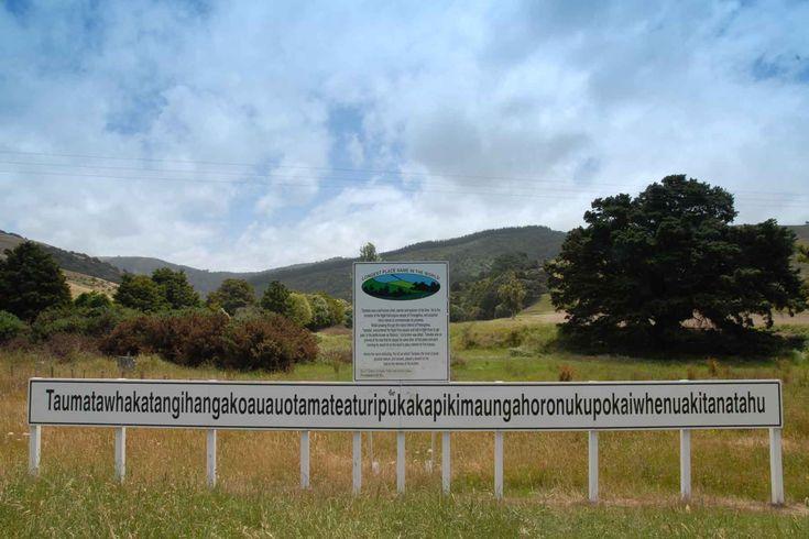 Taumatawhakatangihangakoauauotamateaturipukakapikimaungahoronukupokaiwhenuakitanatahu is the Māori name for a hill, 305 metres (1,001 ft) high, close to Porangahau, south of Waipukurau in southern Hawke's Bay, New Zealand. listen to it pronounced here--> http://www.korero.maori.nz/sound/places/f-t-w-k-o-t-p-w-k-t-t.mp3 At 85 letters, it has been listed in the Guinness World Records as the longest place name in the entire world.