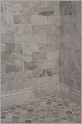 Best Tile For Shower Walls Ceramic Or Porcelain Awesome Large Gray And White Marble Subway On Wall