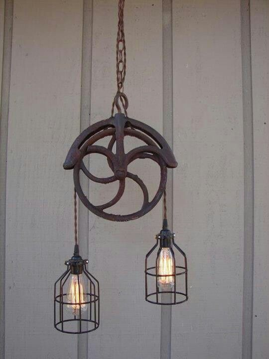 Pulley Light Fixture~