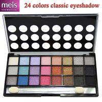 calidad de la sombra de ojos lindo / 24 caja de color maquillaje de sombras elegante paleta de maquillaje con lápiz de ojos gratis 4 piezas / set envío 2413