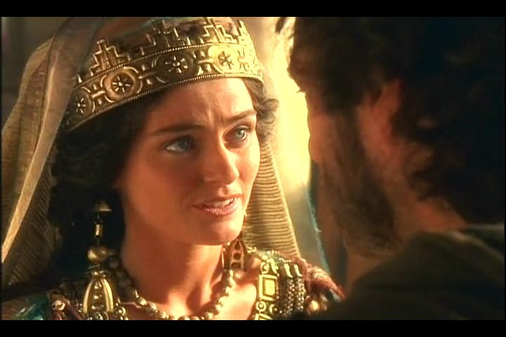 english actress louise lombard as queen esther in 1999s