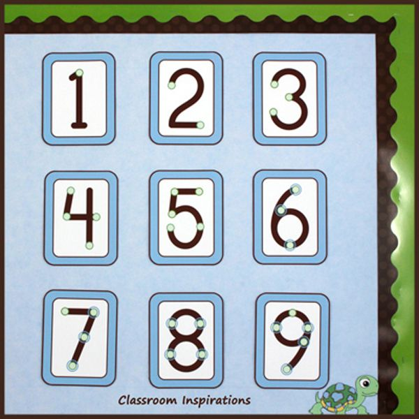 Classroom Decor Numbers ~ Turtle time classroom theme having students touch the