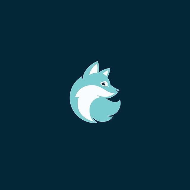 Arctic Fox Cooling by Alexandra Erkaeva @erkaeva - LEARN LOGO DESIGN ⬇️⬇️ @learnlogodesign @learnlogodesign - Want to be featured next? Follow us and tag #logoinspirations in your post