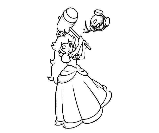 mario princess coloring pages mario princess coloring pages - Baby Princess Peach Coloring Pages