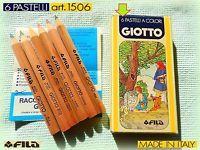 ✎ RARO GIOTTO VINTAGE 1980 6 MINI pastelli colori matite coloured pencils crayon