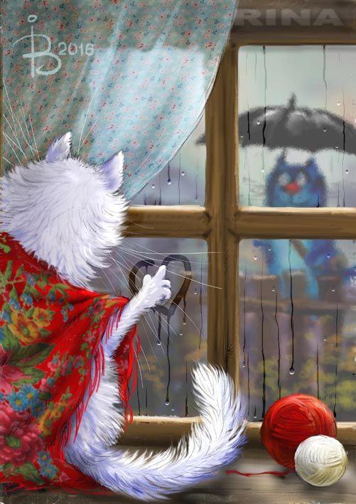 Сообщество иллюстраторов | Иллюстрация Рина З. - Почтовый роман.