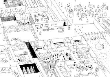 Sketch of De Kunstlinie Theater/Cultural Center [SANAA]