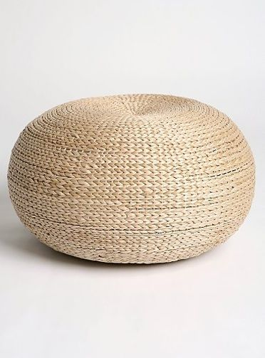 Outdoors: Natural Fiber Poufs: Remodelista.  This one from UO.  IKEA has a version