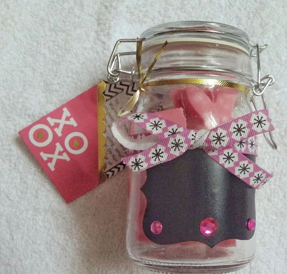 Check out this item in my Etsy shop https://www.etsy.com/ca/listing/523175705/wax-melt-jar-of-love-pack-floral-ribbon