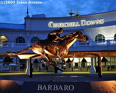 Barbaro statue at Churchill Downs