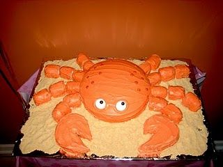 crab shaped cake