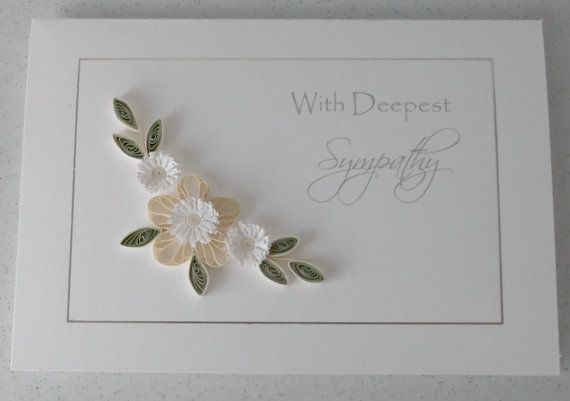 Handmade card deepest sympathy paper quilling by PaperDaisyCards