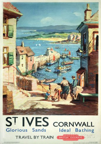 Cornwall Vintage Style Travel Poster Masterprint at AllPosters.com