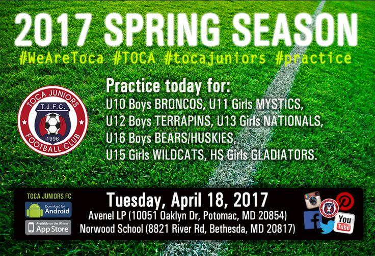 ⚽️ #Practice Today http://www.tocajuniors.com/#!/page_SCHEDULES_practice … | Mobile & APP: Click on Practices #WeAreToca #TOCA #tocajuniors #PLAYsimple #soccer