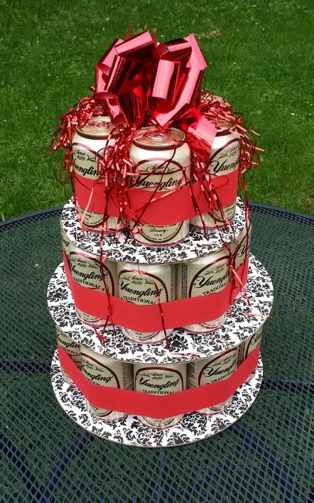 Yuengling Beer can cake. Can someone please make this for us and send it to Texas?