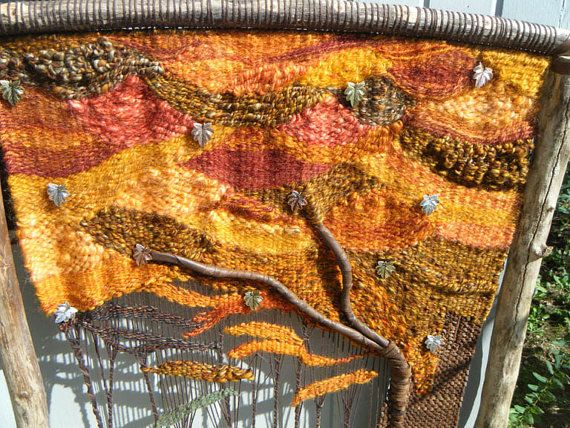 Shades of Autumn tapestry wallhanging от PeaceEagleValley на Etsy