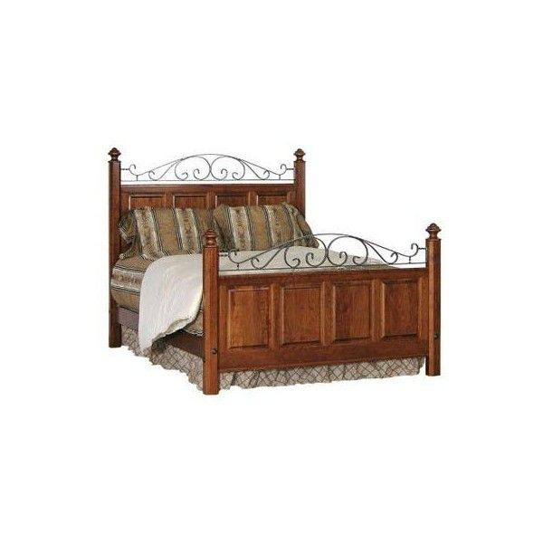Amish Early American Iron Panel Bed ($2,169) ❤ liked on Polyvore featuring home, furniture, beds, queen iron headboard, cal king headboard, black king headboard, california king bed and king bed