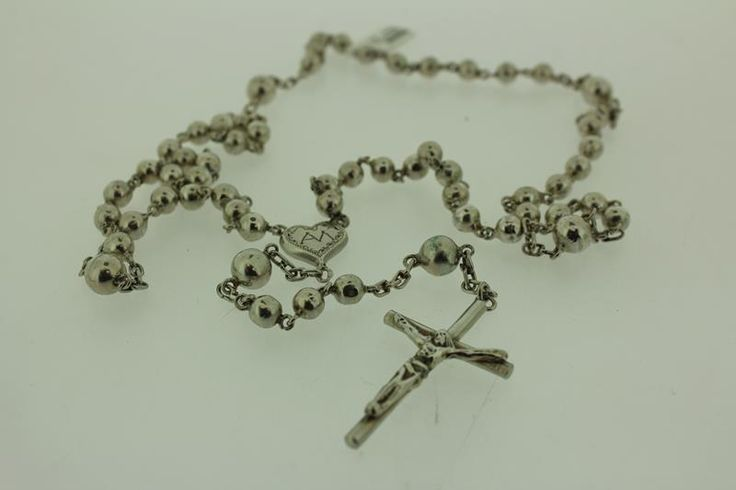 Antique silver rosary (from 1814-1906), for € 319,-.  http://www.goldbergjuweliers.nl/shop/products-page/antieke-sieraden/zilveren-rozenkrans-antiek-1814-1906
