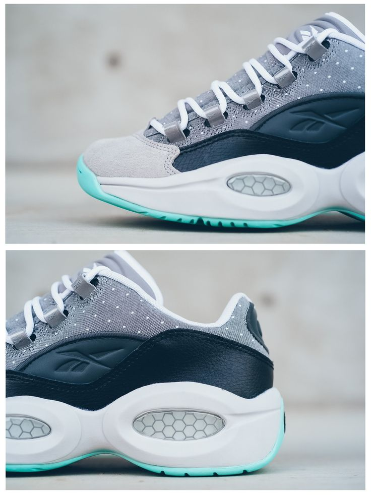 Reebok Question Low R13: Grey/Aqua