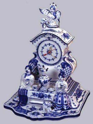 Gzhel clock, Russia