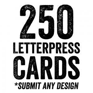 Letterpress Business Card Sale