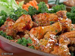 Crispy Honey Mustard Wings  -- from Mr. Food