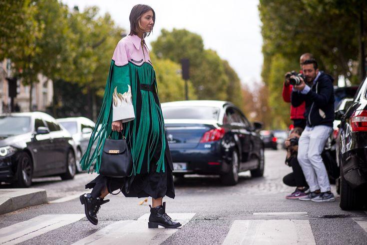 Sokak Stili: 2016 İlkbahar Paris Moda Haftası 9. Gün