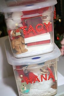 Make each of your kids their own special Christmas boxes that contain their own ornaments, Santa hats, and other special holiday decorations.    11 Christmas Traditions - Tip Junkie