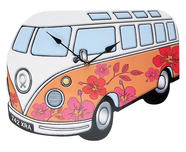 Vw Van Cartoon Camper