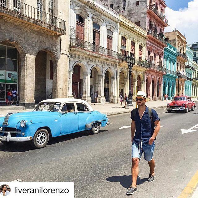 #Repost @liveranilorenzo with @repostapp ・・・ Hola Cuba ☀️#yourmirrorstyle #cuba #travel #ymsaround #havana #120percento #120lino #linen #summer #holidays #travelling #fashion #style #colors